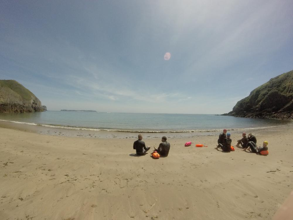 Sea swimming and yoga in Pembrokeshire