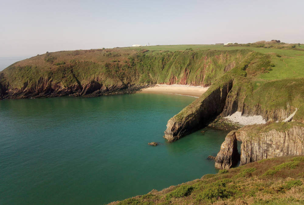 Yoga and sea swimming sessions in Pembrokeshire