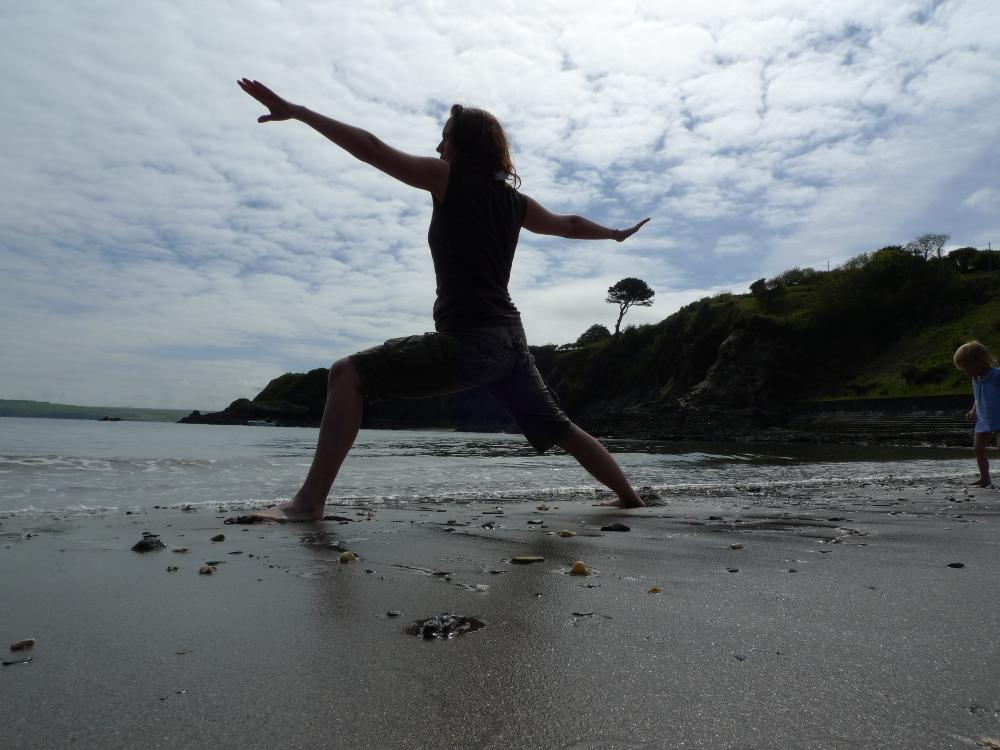 Yoga and sea swimming in Pembrokeshire Wales